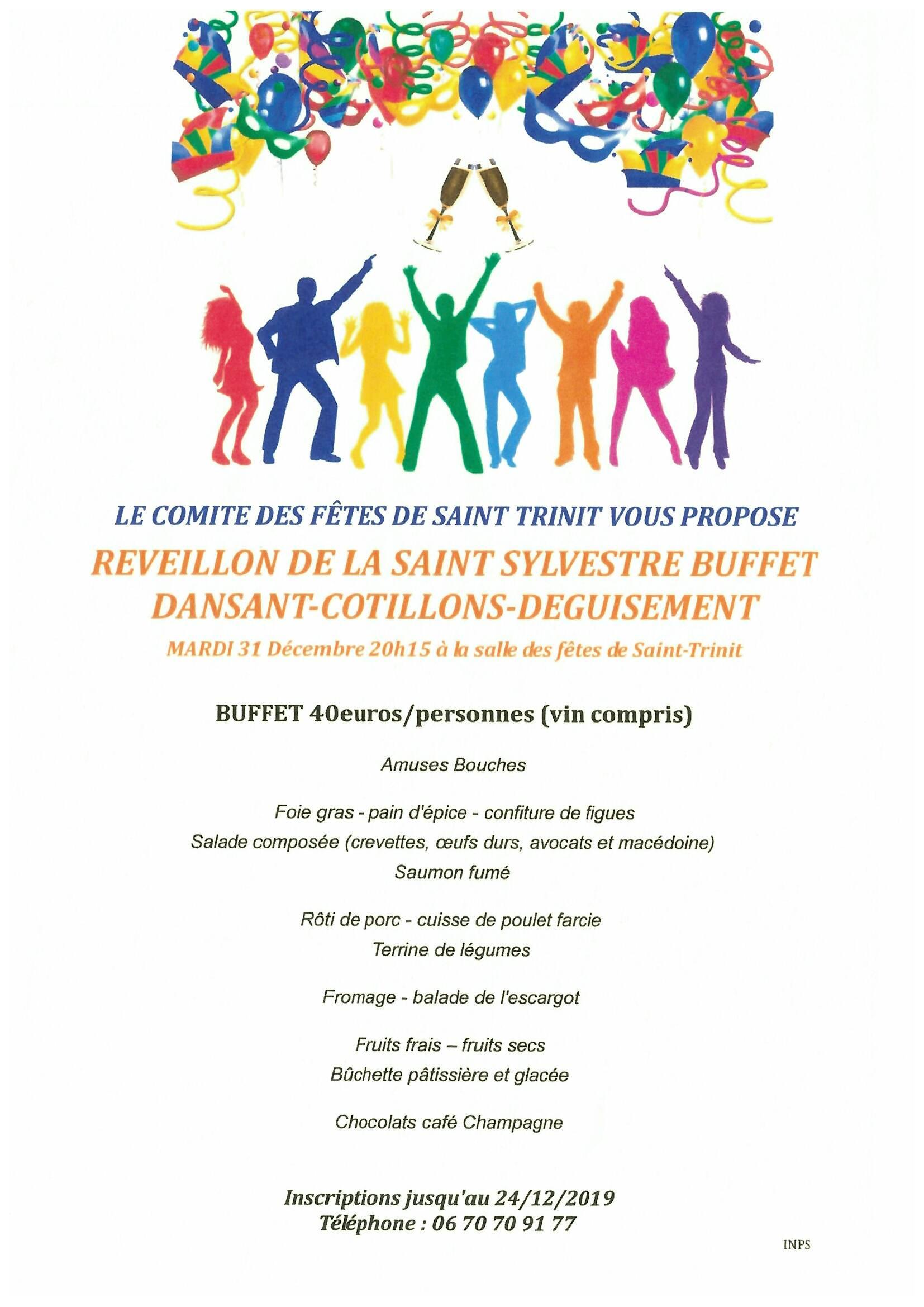 Réveillon Saint-Sylvestre à Saint-Trinit